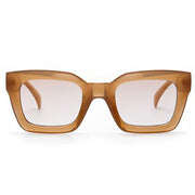 Alexandra - Brown Retro Square Sunglasses - SunShutterz