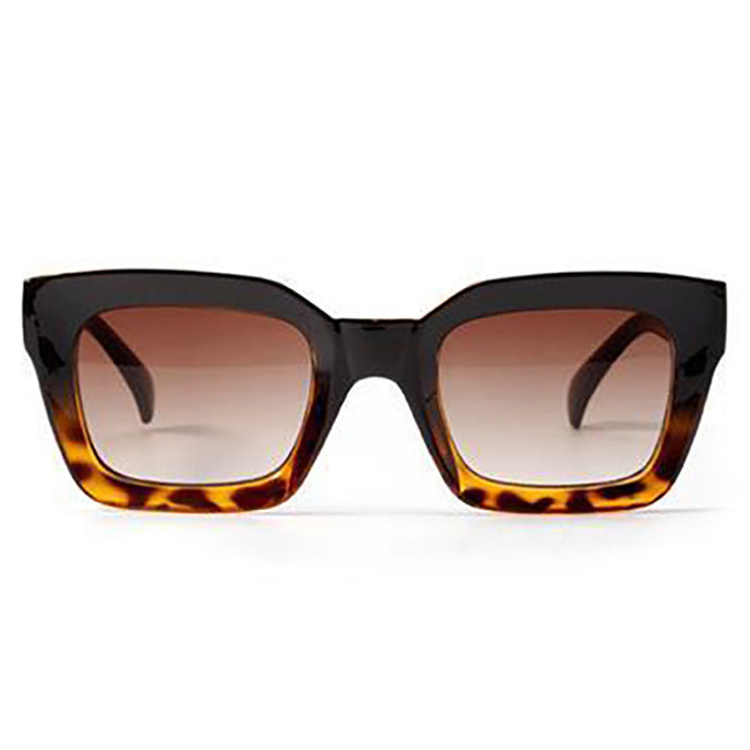 Willow Leopard Retro Square Sunglasses - SunShutterz