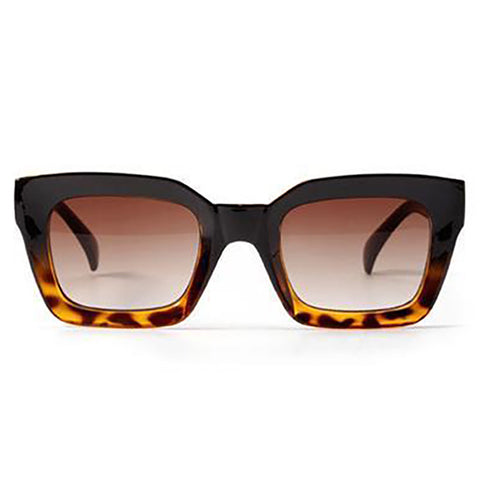 Caitlin - Leopard Retro Square Sunglasses - SunShutterz
