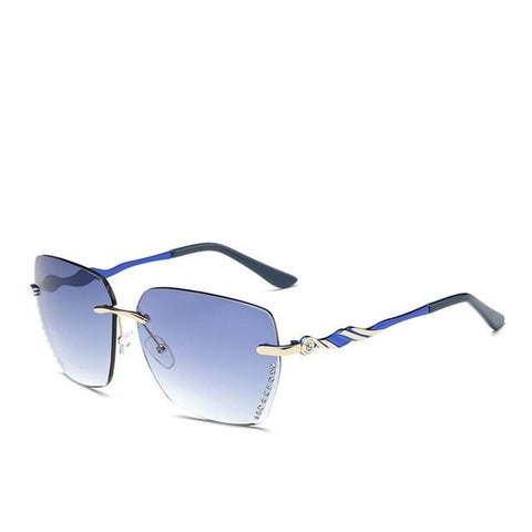 Jodie - Square Rimless Sunglasses - SunShutterz