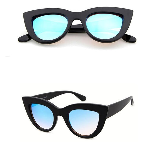 Olivia - Black & Blue Ultimate Cat-Eye Sunglasses - SunShutterz