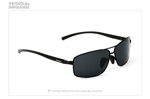Sebastian - Rectangle Aluminum Polarized Sunglasses - SunShutterz