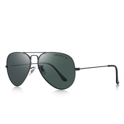 Blake - Classic Pilot Polarized Sunglasses - Sunglass Society