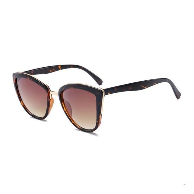 Avery Gradient Brown Cat Eye Sunglasses - SunShutterz