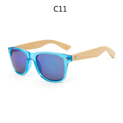 Noel - Retro Square Wooden Sunglasses - SunShutterz