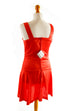 60er Minikleid rot Stretch