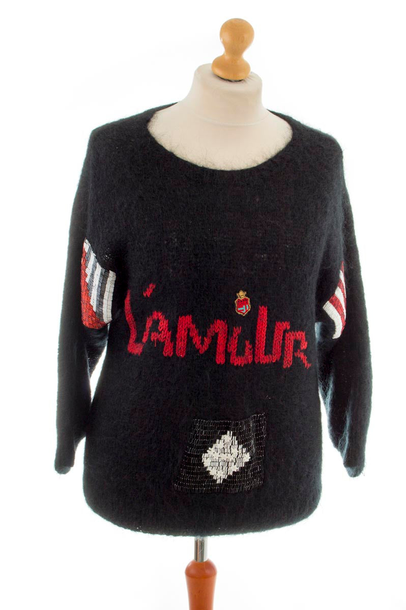 80er Mohair Langpullover L´AMOUR