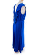 elegantes Abendkleid blau Stretch