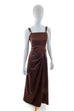 Abendkleid braun Satin
