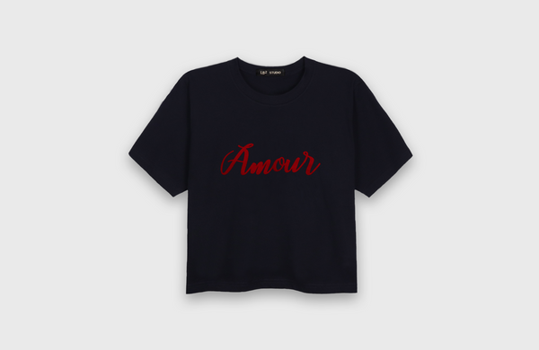 AMOUR - cropped t-shirt - LB2 Studio