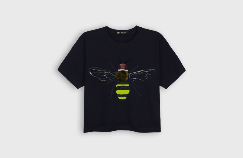 BEE - cropped t-shirt - LB2 Studio