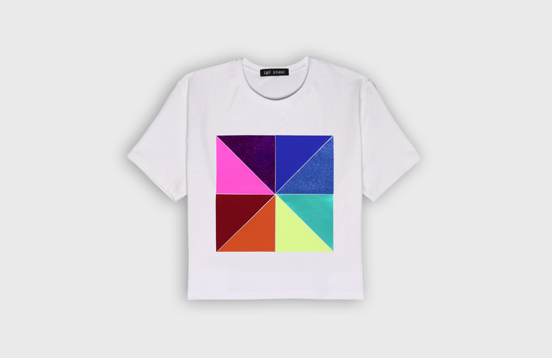 CHROMA - cropped t-shirt - LB2 Studio