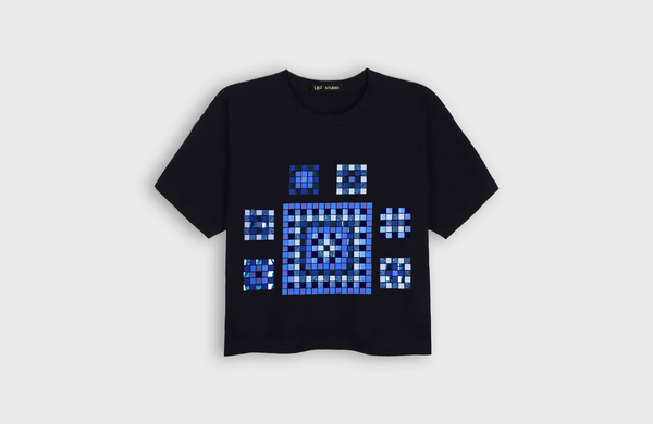 ETHNIC-MOSAIC - cropped t-shirt - LB2 Studio