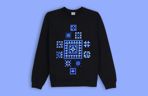 ETHNIC MOSAIC black sweater