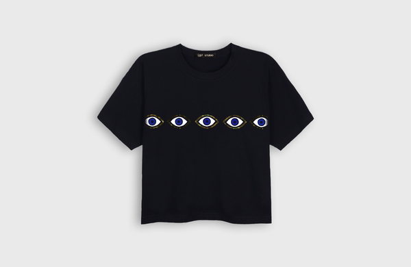 EYES - cropped t-shirt - LB2 Studio