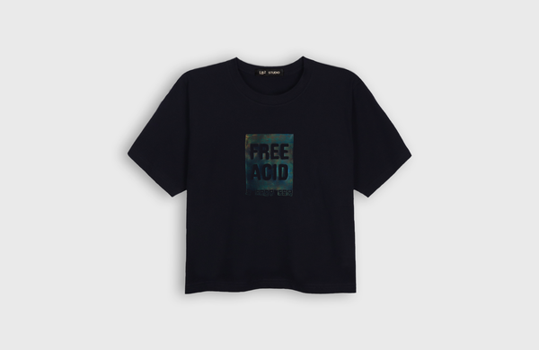 FREE ACID - cropped t-shirt - LB2 Studio