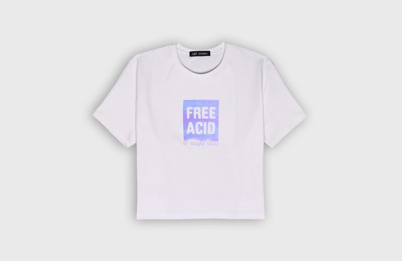 FREE ACID - cropped t-shirt