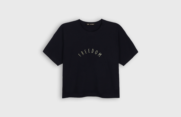 FREEDOM - cropped t-shirt - LB2 Studio