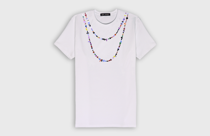 HIPPIE NECKLACE - t-shirt - LB2 Studio