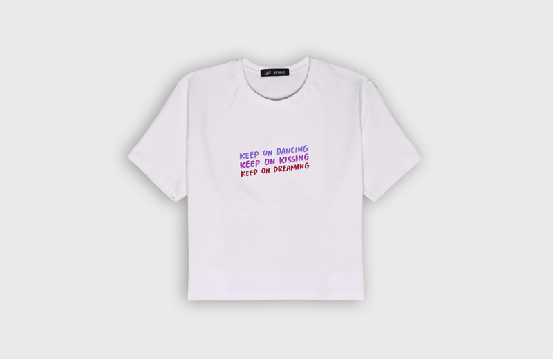 KEEP ON - cropped t-shirt - LB2 Studio