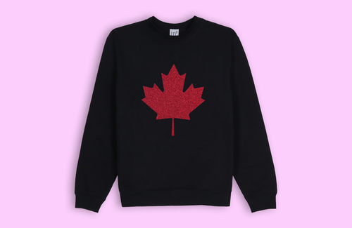 MAPLE LEAF black sweater