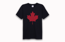 MAPLE LEAF black t-shirt