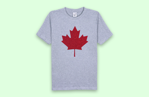 MAPLE LEAF grey t-shirt