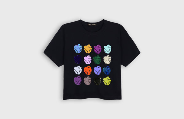 MONSTERA - cropped t-shirt - LB2 Studio