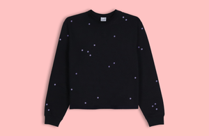 MOON DOTS black crop sweater