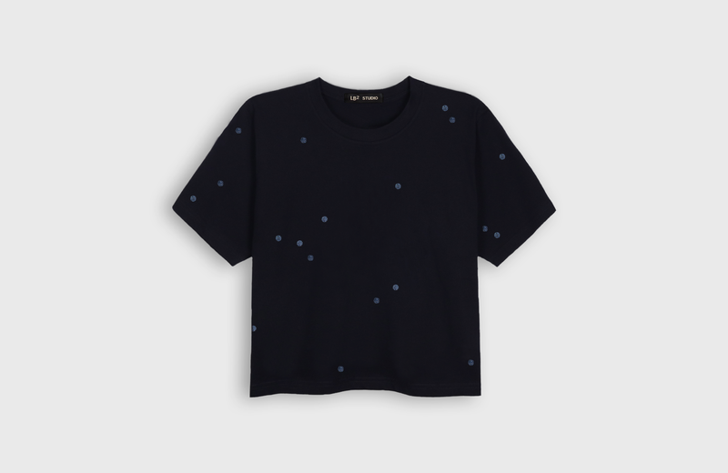 MOON DOTS - cropped t-shirt - LB2 Studio