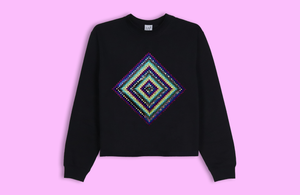NANOPSYCHOSAIC black crop sweater