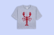 HOMARD grey crop t-shirt