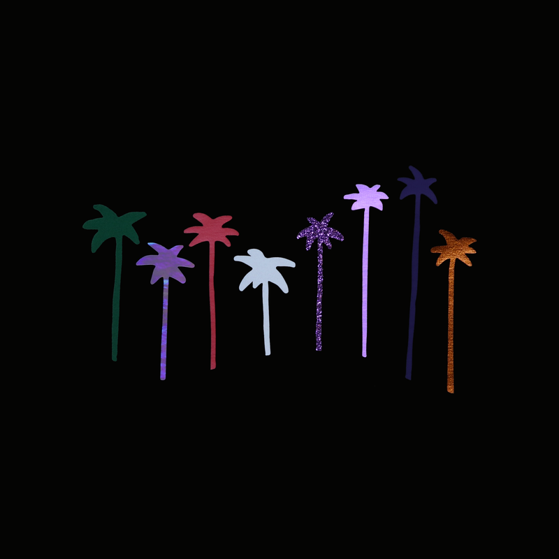 PALM TREES - cropped t-shirt - LB2 Studio