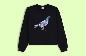 PIGEON black crop sweater