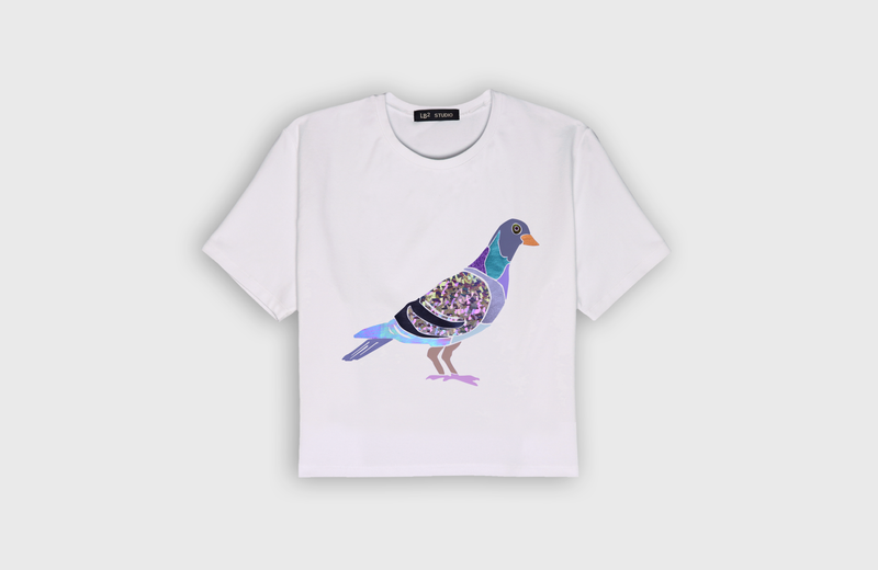 PIGEON - cropped t-shirt