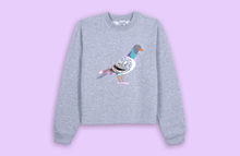 PIGEON grey crop sweater