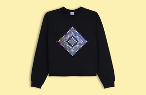 PSYCHOSAIC black crop sweater silver