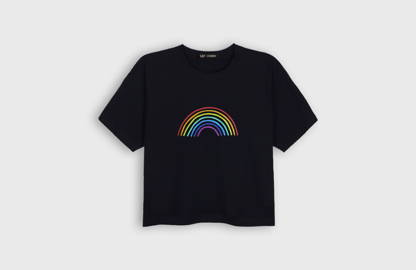 RAINBOW - cropped t-shirt - LB2 Studio