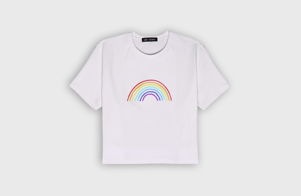 RAINBOW - cropped t-shirt