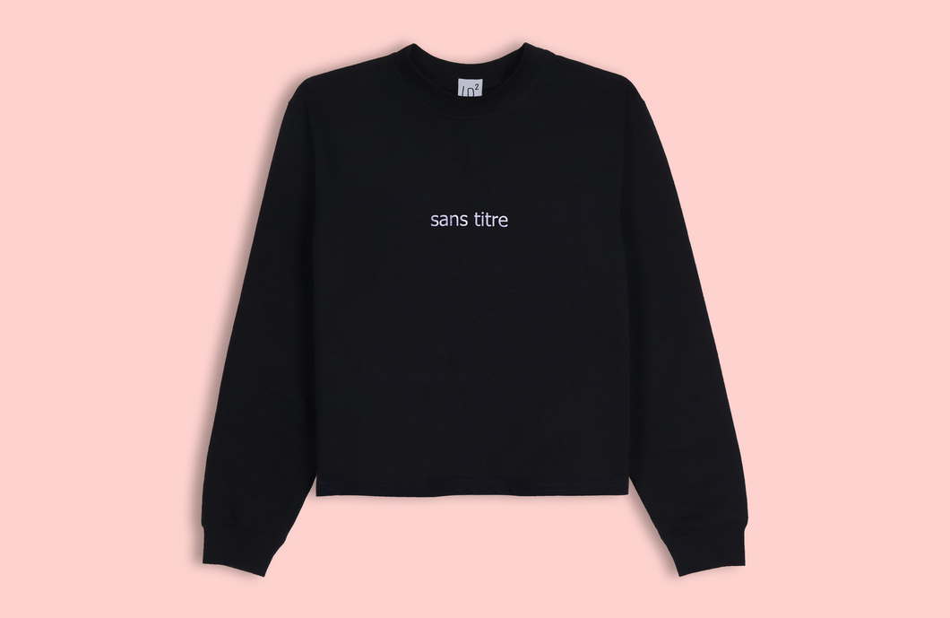 SANS TITRE black crop sweater