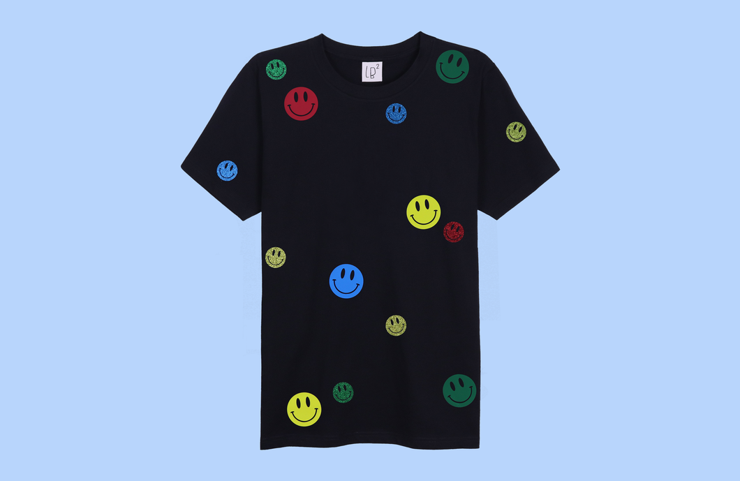 SMILEYS black t-shirt