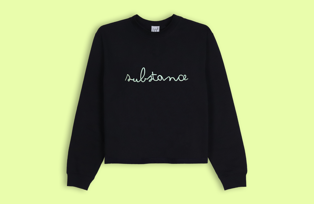 SUBSTANCE black crop sweater