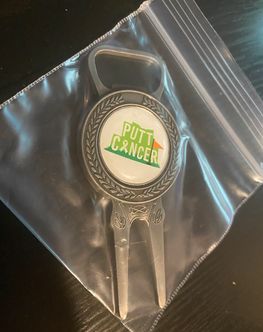 Putt Cancer Divot Tool/Ball Marker/Bottle Opener