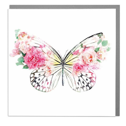 Lola Designs Ltd Greetings Card - A Wildlife Botanical Butterfly Greeting Card