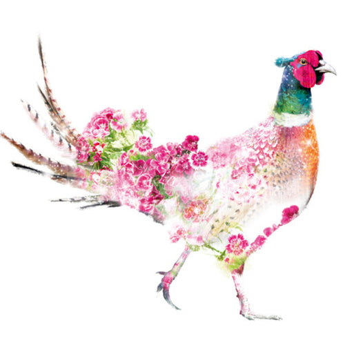 Lola Designs Ltd Botanical Blank Greeting Card -  Pheasant