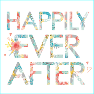 Lola Designs Ltd Hola Blank Greetings Card - Happily Ever After Greetings Card