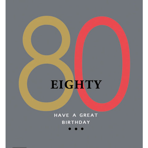 Lola Designs Ltd - 80th Male Birthday Card