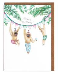 Lottie Murphy Greetings Card - Monkeys