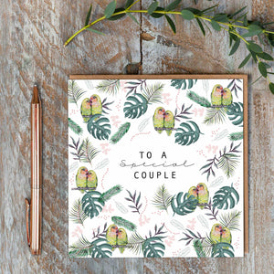 Toasted Crumpet Greetings Card- To A Special Couple (Lovebirds)