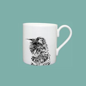 Little Weaver Arts - Cat  Mug